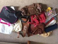 Big selection of ladies bags