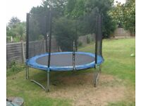 Free 10ft Trampoline For Kids with Enclosure - Good condition, must collect