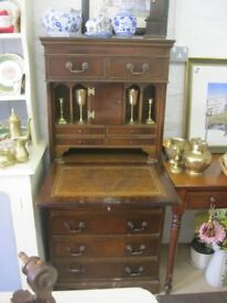 VINTAGE ORNATE RARE UPRIGHT WRITING DESK / BUREAU. VIEWING/DELIVERY AVAILABLE