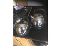 2 chrome kettles