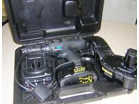 ELU HEAVY DUTY CORDLESS DRILL/DRIVER WITH 3 BATTERIES, BATTERY CHARGER AND CARRY CASE