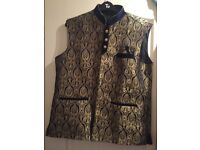 Blue and gold waistcoat