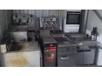 Catering Equipment Clearance Gas Fryers Fridges stainless Steel Tables meat mincers Glasswashers
