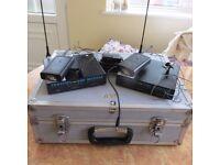 1 Pair Trantec S101 Tie-Clip Radio Microphones in Aluminium Flight-Case