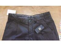 Dark grey cotton blend straight trousers from Lardini.