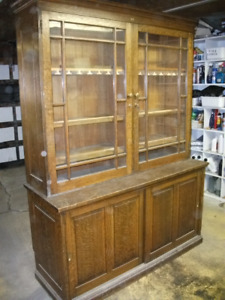 SALE PENDING: Old Antique Wooden Bookshelf / China Cabinet