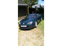 MG TF Sports Car Convertible Petrol Green MOT 8th May 2018 Tax 1st December 2017 Leather Seats