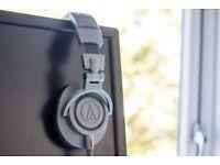 Audio Technica ATH-M50X headphones grey