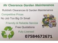 Mr clearance garden maintenance / garden services