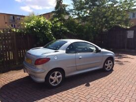 PEUGEOT 206 CC 1600 HARD TOP JULY 2003 SILVER BLUE CONVERTIBLE