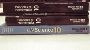 Various Grade 10 TextBooks - McGraw-Hill Ryerson