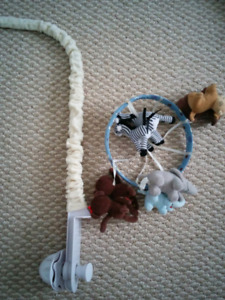 Crib Mobile and pull on Musical Toy