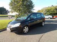 VAUXHALL ZAFIRA EXCLUSIVE 7 SEATER MPV BLACK NEW SHAPE 2008 BARGAIN ONLY £1250 *LOOK* PX/DELIVERY