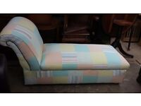 Funky Patchwork Chaise Lounge / Daybed. Bedroom Sofa / Kids Playroom ?