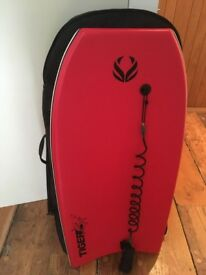 x2 Surfdome Bodyboards, x1 leash, bag and fins (x1 pair)