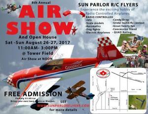 Sun Parlor 2017 Airshow RC flying machines come have fun