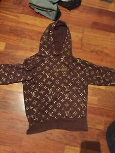 Supreme X Louis Vuitton Collaboration Pullover Hoodie