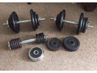 Cast iron dumbbels (~59kg)