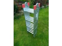 Multi purpose 4x4 rung folding ladder
