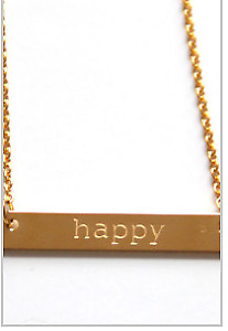Jook and Nona  Happy Necklace