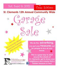 St. Clements Community Wide Garage Sale