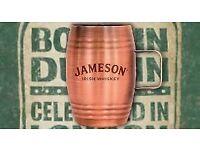 Jameson Irish Whiskey Shot Barrels