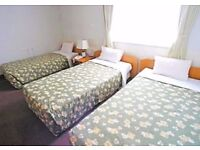 Triple room is available at Liverpool Street station. Close to Tower Hill and Bank, Old Street