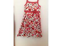 Red summer dress size 5