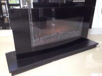 Electric Fire - Blyss Sora Black - Remote Control Fireplace with Hearth