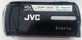 JVC EVERIO DUAL MEMORY HAND HELD CAMCORDER. MODEL NO. GZ-MS21BEK.