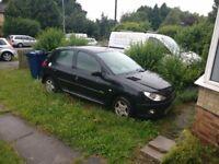 Scrap Car For Sale Peugeot 206 Low Mileage