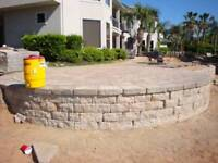 Retaining wall and driveway interlock services.