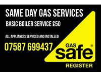 Gas Services, Installations Repairs break downs Same Day 24/7 all appliances