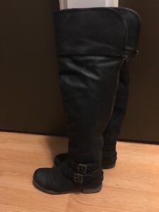 Size seven thigh high boots