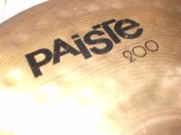 PAISTE, 200 , 20 INCH RIDE CYMBAL GOOD CONDITION and stand