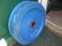 Body Power Olympic Bumper Steel Center Rubber Rimmed Plates 70kg