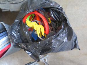 Large trash bag of mixed hot wheels tracks