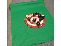 Indoor mini carpet bowls set - children or adults