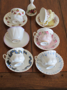 Royal Albert  China Teacups and Bell