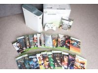Xbox 360 (60GB) and 24 game bundle