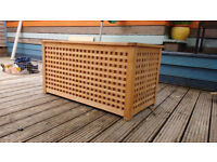 Wooden storage chest