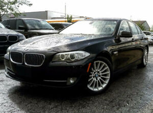 2012 BMW 535i XDRIVE ACCIDENT FREE|ONE OWNER|BLACK ON BROWN|