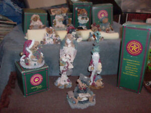 VINTAGE LARGE LOT OF BOYDS BEARS FIGURES COLLECTIBLE DECORATIVE