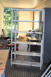 Open steel 5 shelf shelving unit