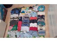 Bundle baby clothes 0-12monts