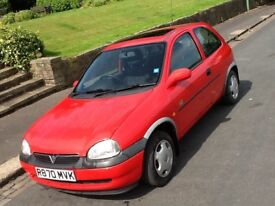 1997 VAUXHALL CORSA 1.4 HI TORQ WITH LOW LOW MILEAGE