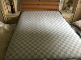 Metal framed double bed with mattress great condition.