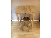 IKEA high table and stool