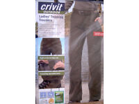 Ladies Hiking Trousers Size 10 Bionic finish, 5% lycra, water and stain repellent