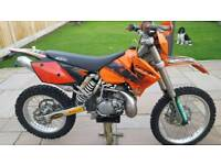 Ktm 2004 .200exc road registered with 12 months mot